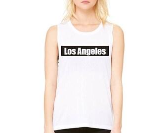 Los Angeles - Flowy Scoop Muscle Tee