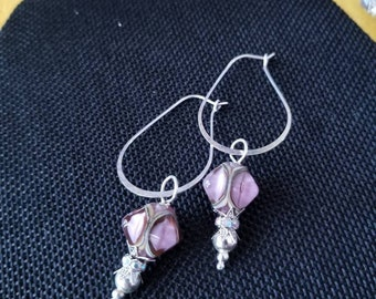 Ear baubles purple drop earrings