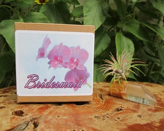 will you be my bridesmaid gift, quartz airplanter, maid of honor gift, wedding favor, flower girl gift, succulent wedding favor, wedding