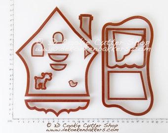 Gingerbread Cuckoo Clock House Cookie Cutter Set