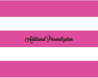 ADDITIONAL PERSONALIZATION FEE