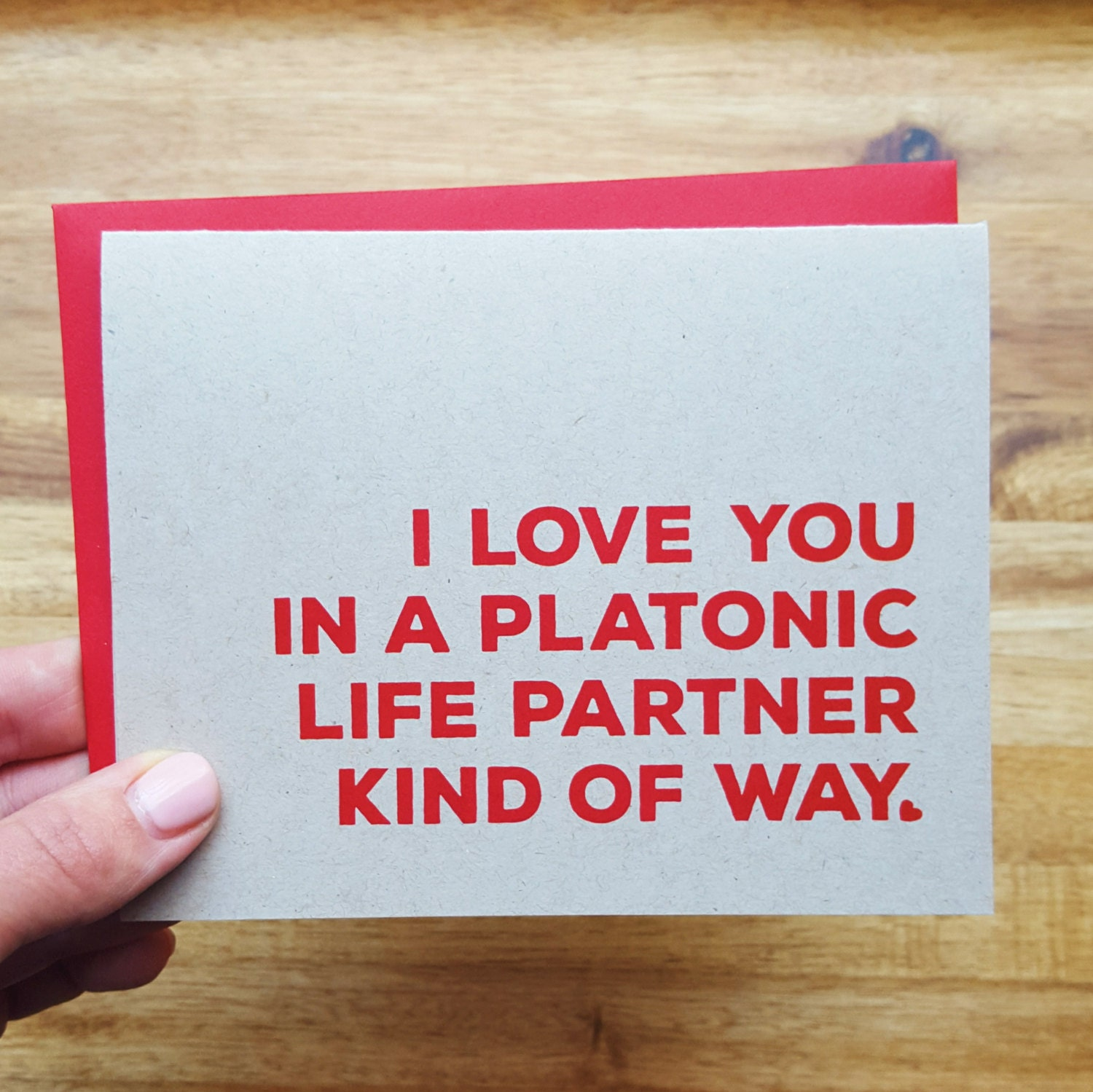 Funny friend love card i love you in a platonic life partner zoom kristyandbryce Image collections