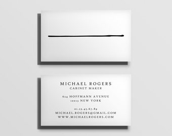 printable business card template, fully customized calling card template, business stationery, minimal typographic business card [07]