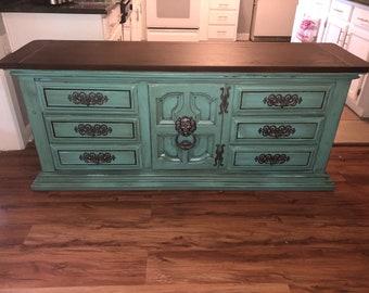 Chunky vintage dresser.