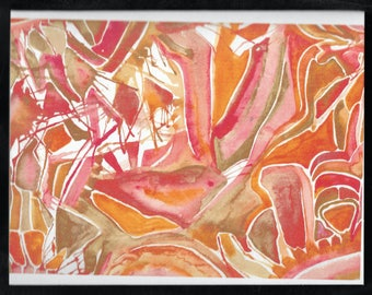 Orange Abstract Art Card