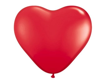 "6"" heart latex balloon- Red"