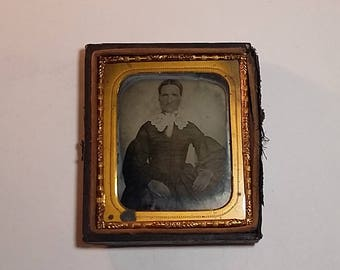 Antique Civil War Era Ambrotype Photograph, Woman, Hannah Clark