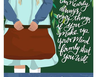 Children of Literature Poster - Anne of Green Gables Digital Print