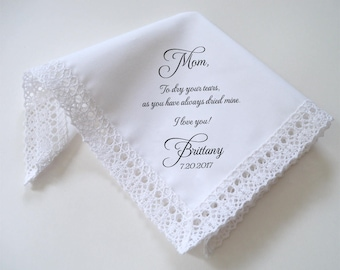 Lace wedding handkerchief, print handkerchief, personalize hankerchief, lace hankerchief, custom hankerchief, wedding hankie