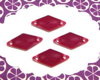 6 diamonds dark raspberry 2 holes SED18 sequins
