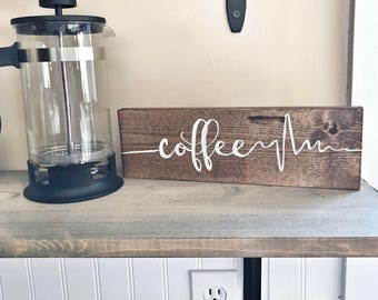 coffee EKG sign