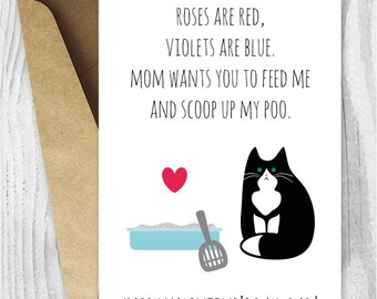 printable Valentine day cards, Fur Baby Daddy, Funny Tuxedo Cat Valentines Day Card, Valentine Cards for Cat Dads, Black and White Cat Cards