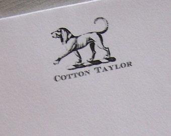 Personalized Dog Notepad Monogrammed Initials Sassy Hound Dog 75 Sheet Pet Note Pad HappyHound Pet Gift
