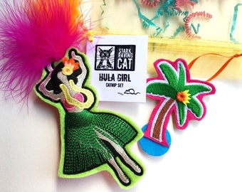 Hula Dancer Catnip Toy Set for Cats
