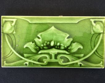 Art Nouveau Antique Tile
