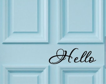 door wall decal hello Custom Wall Decal Vinyl Wall Stickers Decals, home wall decal