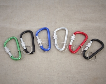 55 mm 6pieces of Aluminum Carabiners Lock Function / colorful Aluminum Carabiners / Belt Carabiner / Belt Snap / Keyring / Lock snap keyring