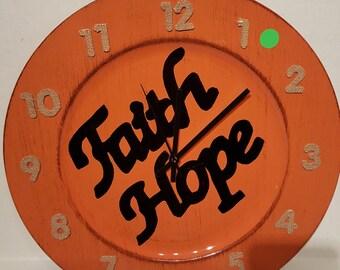 Clock / Faith & Hope Clock / Wall Art / Housewares / Novelty Clock