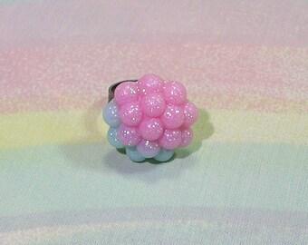 Fairy Kei Ring, Mermaid Ring, Seapunk Ring, Pastel Goth Ring, Pearl Cluster Ring, Pop Kei Ring, Mermaid Jewelry, Pearl Ring, Kawaii Ring