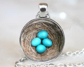 BIRD NEST Necklace, Bird Nest Pendant, Bird Nest Keychain, Robin Eggs, Bird Necklace, Bird Pendant, Bird Necklace, Bird Jewelry, Bird Eggs