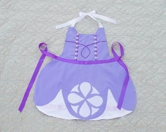 Princess Sofia the First Inspired Dress Up Apron