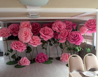 Giant paper flowers etsy large paper flowers giant paper flowers paper flowers on the stem paper rose mightylinksfo