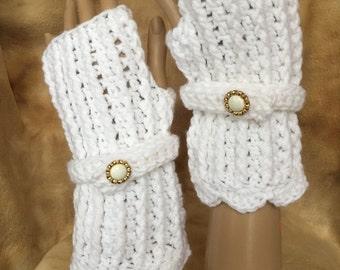 Fingerless / Texting gloves. Hand crocheted