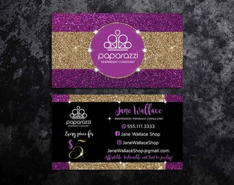 Purple business card etsy paparazzi business cards paparazzi jewelry paparazzi accessories paparazzi consultant black and purple glitter gold business cards colourmoves