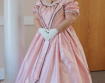 Plus size Civil War Ball Gown Hoop Skirt DAR