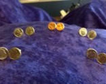 Mini Coin Earrings