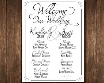 Large Bridal Party Sign - Custom Digital Copy