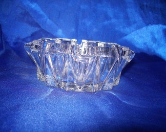 Clear Pressed Glass Ash Tray