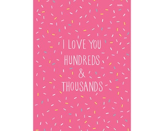 Hundreds & Thousands Art Print | Kids Poster