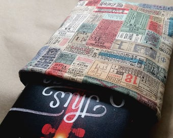 Vintage Ticket Stubs Book Sleeve Ready to Ship One Size