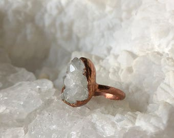 Geode Electroformed Ring- Size 6.5