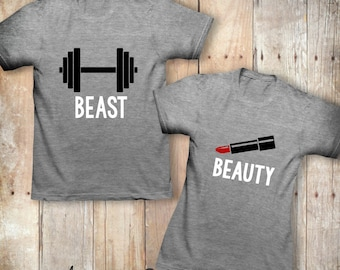His and hers Beauty and the Beast Shirts