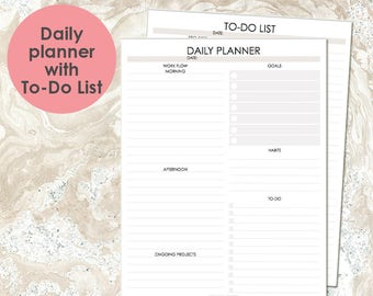 PRINTABLE Daily Planner, goals and habits, To Do List Printable