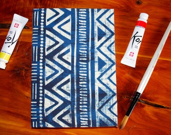 Hardcover Blue White Journal
