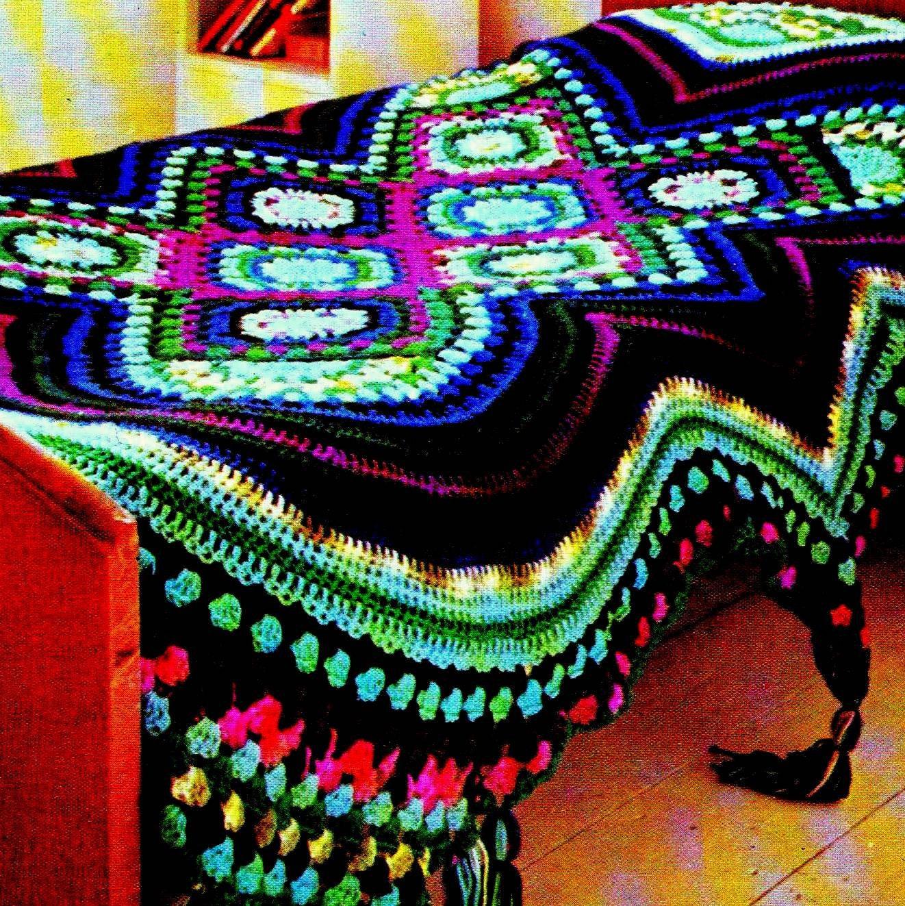 INSTANT DOWNLOAD PDF Vintage Crochet Pattern Afghan Throw