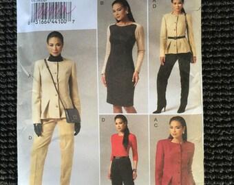 Vogue 8758 Misses Jacket Dress Skirt Pants Sewing Pattern Size 12-18 UNCUT