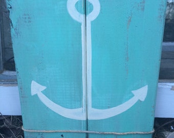 Rustic anchor wall decor