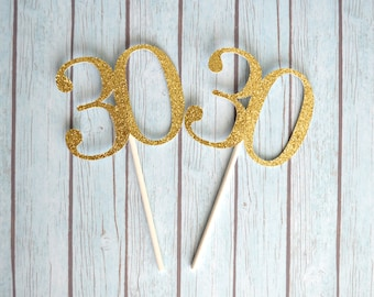 30th Birthday Cupcake Toppers, 30 Cupcake Toppers, Thirty Cupcake Toppers, Thirtieth Birthday, Thirty Birthday Cupcakes, 30th Anniversary