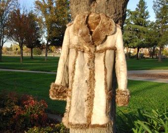 vintage 1970s shearling coat