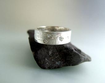 Silver ring,silver topaz ring,silver handmade ring,silver textured ring, silver 925 ring,silver gem ring,silver ring 925,silver ring topaz