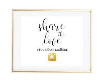 Wedding Instagram Sign, Printable Instagram Sign, Instagram Hashtag Instructions Sign, Wedding Instagram Sign, Instagram Hashtag Printable