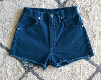 Wrangler Teal High Waisted Shorts