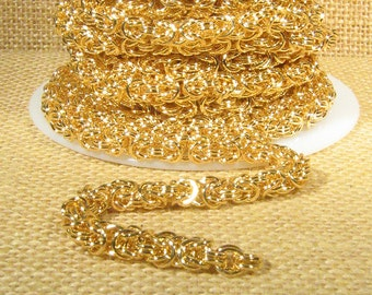 8 Inches Byzantine Chain - Gold Plated