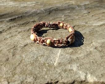Macrame Hemp Wooden Beaded Bracelet
