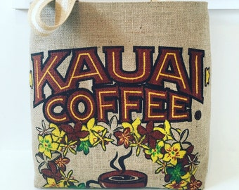 Kauai Coffee Sack Tote/ Farm Tote/ Market Bag