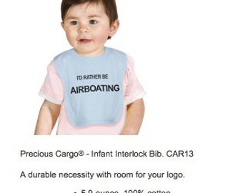 """Airboat sayings Baby Bib """"I'd Rather Be Airboating"""" and Other Sayings!"""